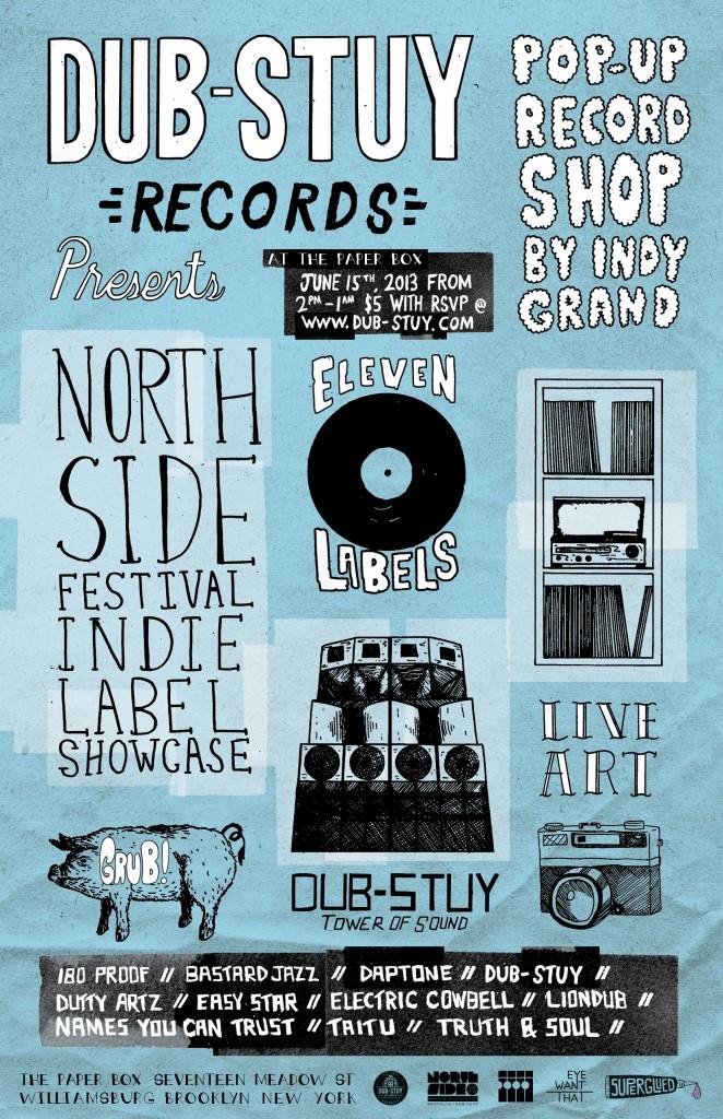 Northside Festival Label Showcase Flyer